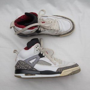 Nike Air Jordan Spizike Shoes white cement 5Y